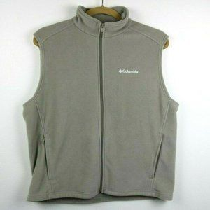 Columbia Mens Vest Fleece Sleeveless Pockets Zip